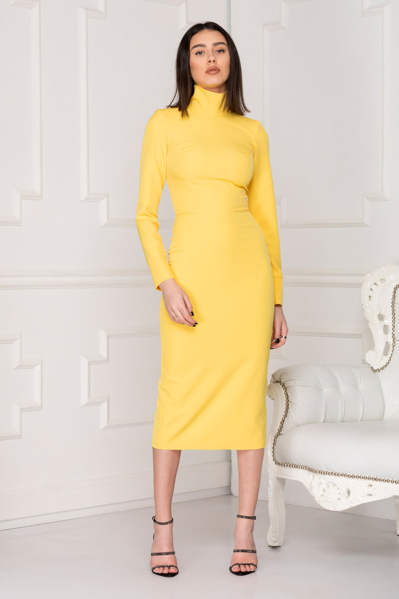 Yellow Spring Midi dress.