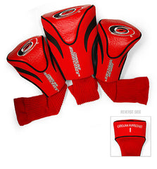 3 Pk Contour Sock Headcovers CAROLINA HURRICANES