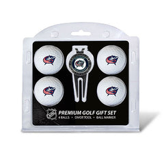 4 Ball Divot Tool Gift Set COLUMBUS BLUE JACKETS