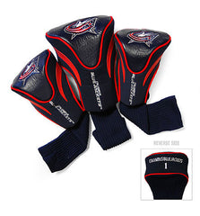 3 Pk Contour Sock Headcovers COLUMBUS BLUE JACKETS
