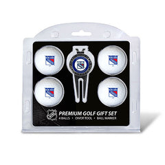 4 Ball Divot Tool Gift Set NEW YORK RANGERS
