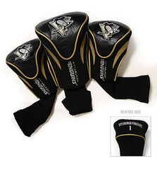 3 Pk Contour Sock Headcovers PITTSBURGH PENGUINS