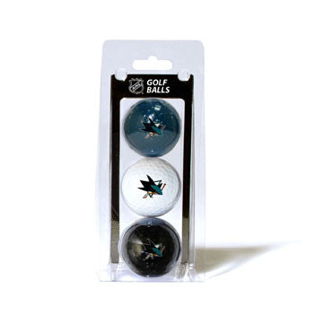 3 Golf Ball Pack SAN JOSE SHARKS