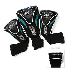 3 Pk Contour Sock Headcovers SAN JOSE SHARKS