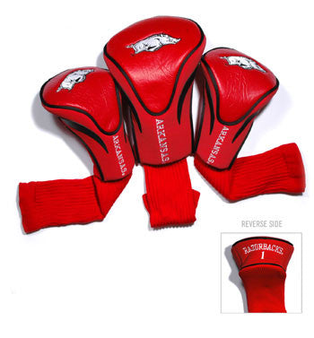 3 Pk Contour Sock Headcovers Arkansas Razorbacks