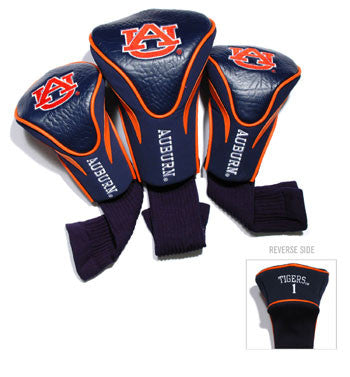 3 Pk Contour Sock Headcovers Auburn Tigers