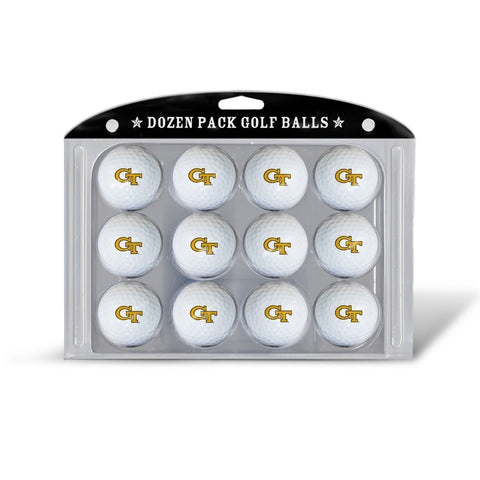 Golf Balls Dozen Pack Georgia Tech Yellow Jackets