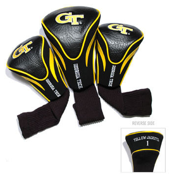 3 Pk Contour Sock Headcovers Georgia Tech Yellow Jackets
