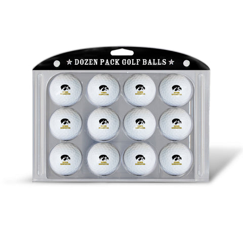 Golf Balls Dozen Pack Iowa Hawkeyes