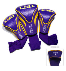 3 Pk Contour Sock Headcovers LSU Tigers