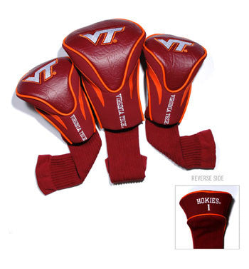 3 Pk Contour Sock Headcovers Virginia Tech Hokies