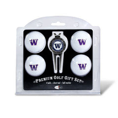 4 Ball Divot Tool Gift Set Washington Huskies
