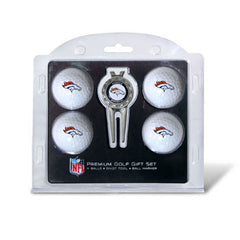 4 Ball Divot Tool Gift Set Denver Broncos