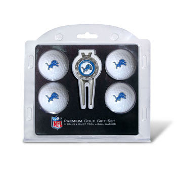 4 Ball Divot Tool Gift Set Detroit Lions