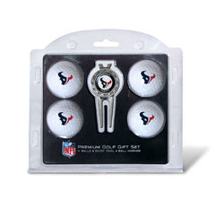 4 Ball Divot Tool Gift Set Houston Texans