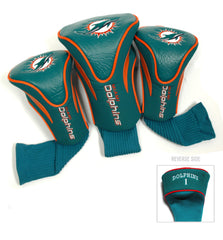 3 Pk Contour Sock Headcovers Miami Dolphins