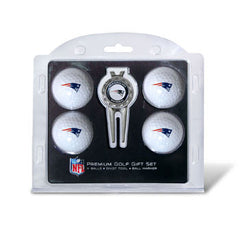4 Ball Divot Tool Gift Set New England Patriots