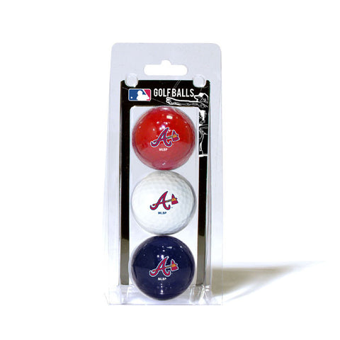 3 Golf Ball Pack ATLANTA BRAVES
