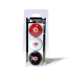 3 Golf Ball Pack CINCINNATI REDS