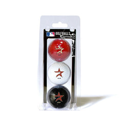 3 Golf Ball Pack HOUSTON ASTROS