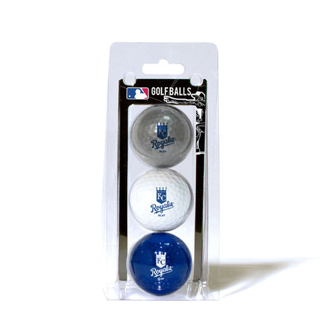 3 Golf Ball Pack KANSAS CITY ROYALS
