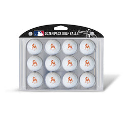 Golf Balls Dozen Pack MIAMI MARLINS