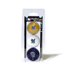 3 Golf Ball Pack MILWAUKEE BREWERS