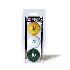 3 Golf Ball Pack OAKLAND ATHLETICS