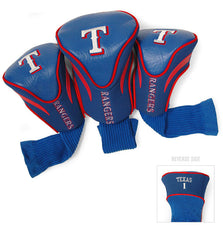 3 Pk Contour Sock Headcovers TEXAS RANGERS
