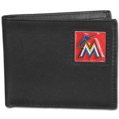 Marlins Leather Bi-fold Wallet
