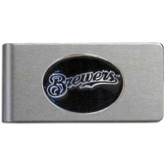 Brewers Brushed Money Clip
