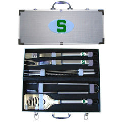College 8 pc BBQ Set - Michigan St. Spartans