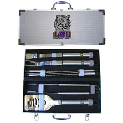 College 8 pc BBQ Set - LSU Tigers