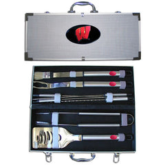 College 8 pc BBQ Set - Wisconsin Badgers