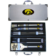 College 8 pc BBQ Set - Iowa Hawkeyes