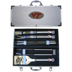 College 8 pc BBQ Set - Virginia Tech Hokies