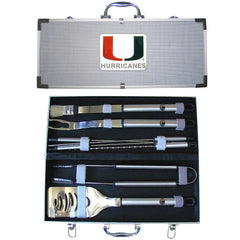 College 8 pc BBQ Set - Miami Hurricanes
