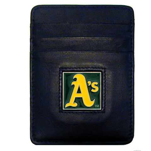 Athletics Leather Money Clip/Cardholder in Tin