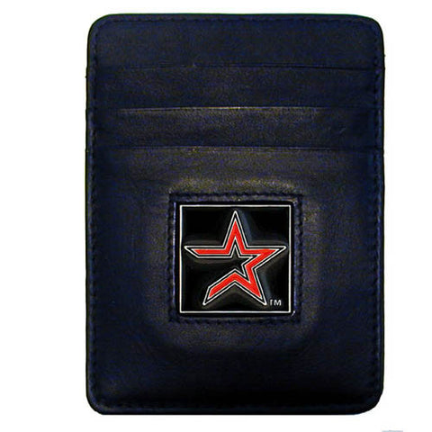 Astros Leather Money Clip/Cardholder