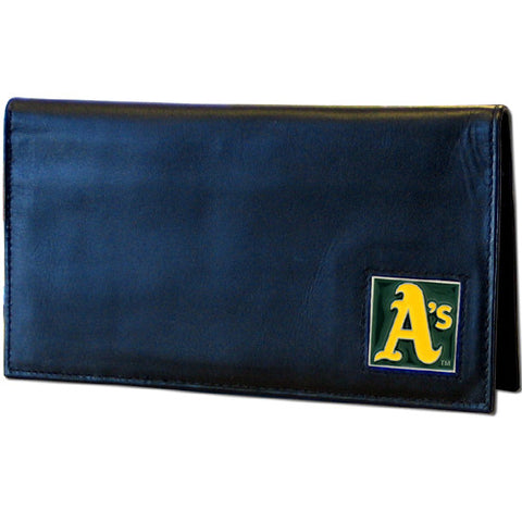 Athletics Leather Dlx Checkbook Cover in Tin