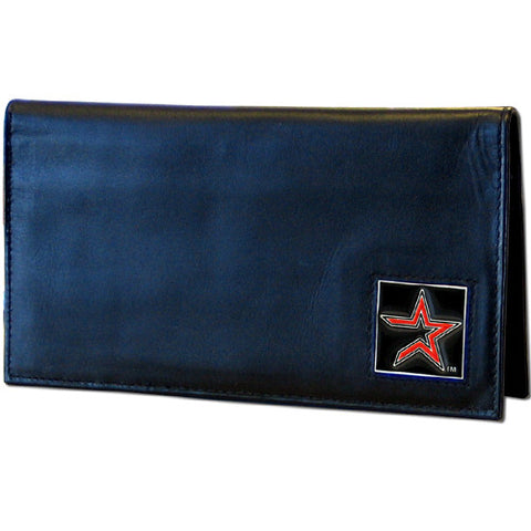 Astros Leather Dlx Checkbook Cover in Tin