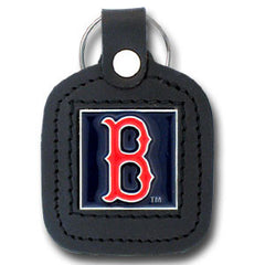 Boston Red Sox Sq. Leather Key Chain