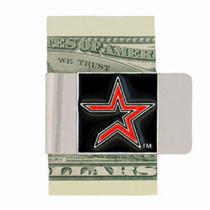 Astros Steel Money Clip