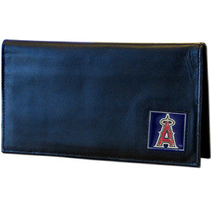 Angels Leather Checkbook Cover in Tin