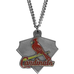 Chain Necklace & MLB Pendant - St. Louis Cardinals