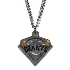Chain Necklace & MLB Pendant Giants