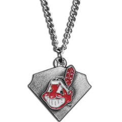 Chain Necklace & MLB Pendant Cleveland Indians