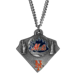 Chain Necklace & MLB Pendant New York Mets
