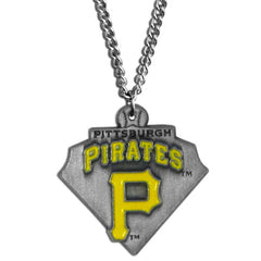 Chain Necklace & MLB Pendant Pittsburgh Pirates