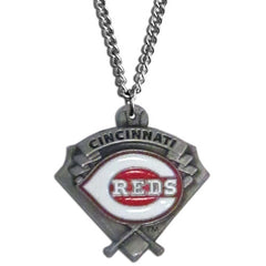 Chain Necklace & MLB Pendant Cincinnati Reds